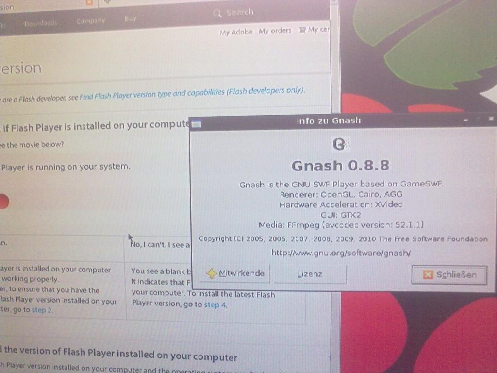 flash player in Raspbian | element14 | Raspberry Pi 2